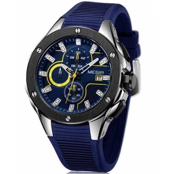 Наручные часы  Megir 2053 Racer Blue