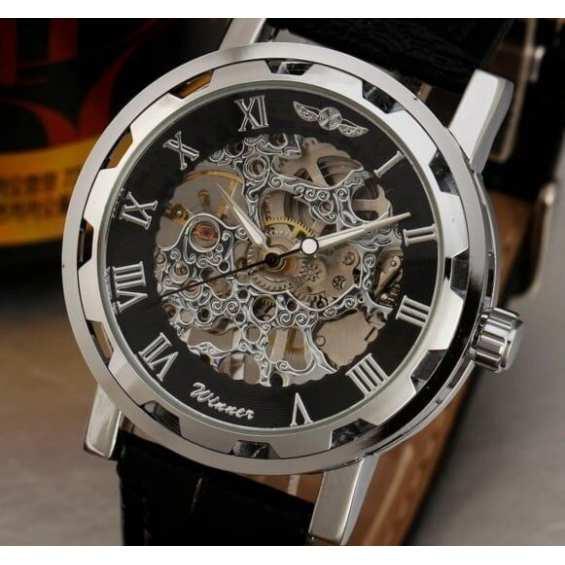 Наручные часы  Winner Silver&Black