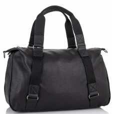 Мужская дорожная кожаная черная сумка для командировок Tiding Bag SM8-8149A