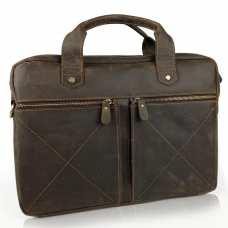 Винтажная сумка для ноутбука коричневая Tiding Bag D4-012R