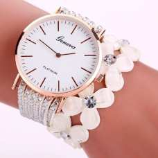 Женские часы Geneva Creative White