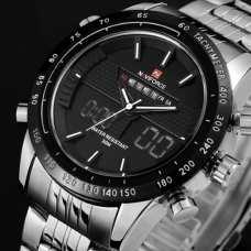 Мужские часы Naviforce Army Silver