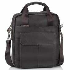 Сумка через плечо кожаная мужская Tiding Bag A25-8861DB