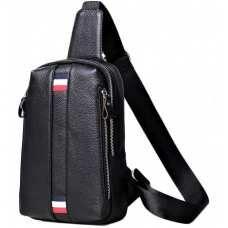 Мужской кожаный слинг на грудь Tiding Bag A25F-6616A