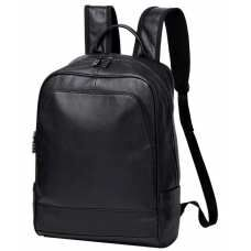 Рюкзак мужской кожаный черный Tiding Bag A25F-11685A