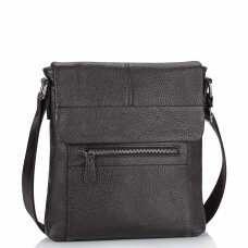 Кожаная мужская сумка через плечо коричневая Tiding Bag M38-9117-2B