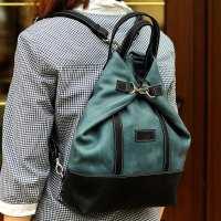Рюкзак-сумка трансформер Grande Pelle, синий и голубой