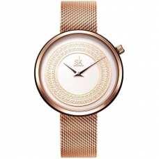 Женские часы Shengke Kuba Gold