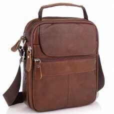 Коричневая мужская сумка-мессенджер Tiding Bag NM20-6021C