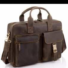 Винтажная кожаная сумка для ноутбука Tiding Bag D4-058R