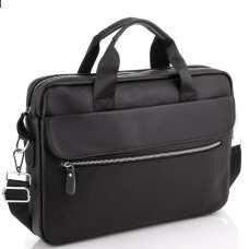 Сумка для ноутбука кожаная мужская черная Tiding Bag A25-1127A