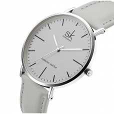 Женские часы Shengke Leather Grey