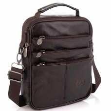 Коричневая мужская сумка мессенджер HD Leather NM24-218C