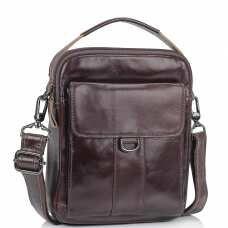 Коричневая сумка мессенджер через плечо Tiding Bag N2-8013DB