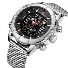 Мужские часы Naviforce Tesla Silver NF9153