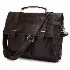 Мужской кожаный портфель TIDING BAG 6057J