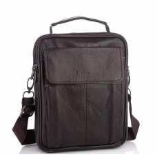 Мужская кожаная сумка-барсетка коричневая HD Leather NM24-1079C