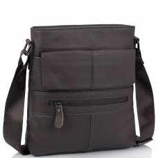 Мессенджер коричневый мужской Tiding Bag M38-7812C