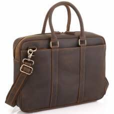 Винтажная коричневая сумка для ноутбука Tiding Bag D4-023R