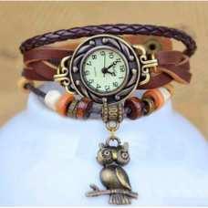 Женские часы CL Owl Brown