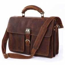 Мужской кожаный портфель TIDING BAG 7164R