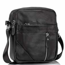 Мужская черная сумка через плечо Tiding Bag M38-1031A
