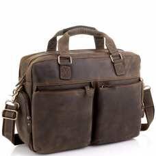 Сумка для ноутбука деловая в винтажном стиле Tiding Bag D4-002R