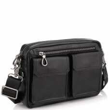 Горизонтальная сумка через плечо кожаная Tiding Bag 720A