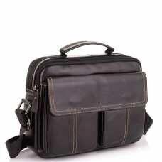 Горизонтальный кожаный мессенджер Tiding Bag N2-403DB