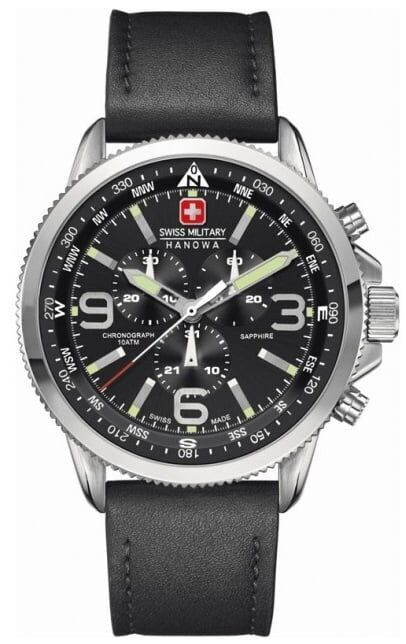Swiss military hanowa arrow chrono stainless steel